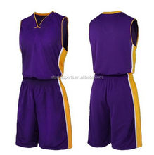 New style promotional basketball uniform sets for adults