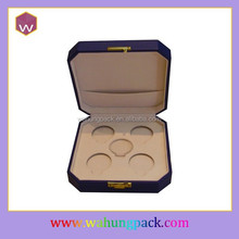 Custom Made Plastic Packaging Gift Box For 5 Round Madel Coins Storage Wholesale