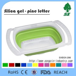 Hot Sale Silicone and Plastic Foldable Kitchen Dish Drainer/Collapsible Dish Rack with Arms