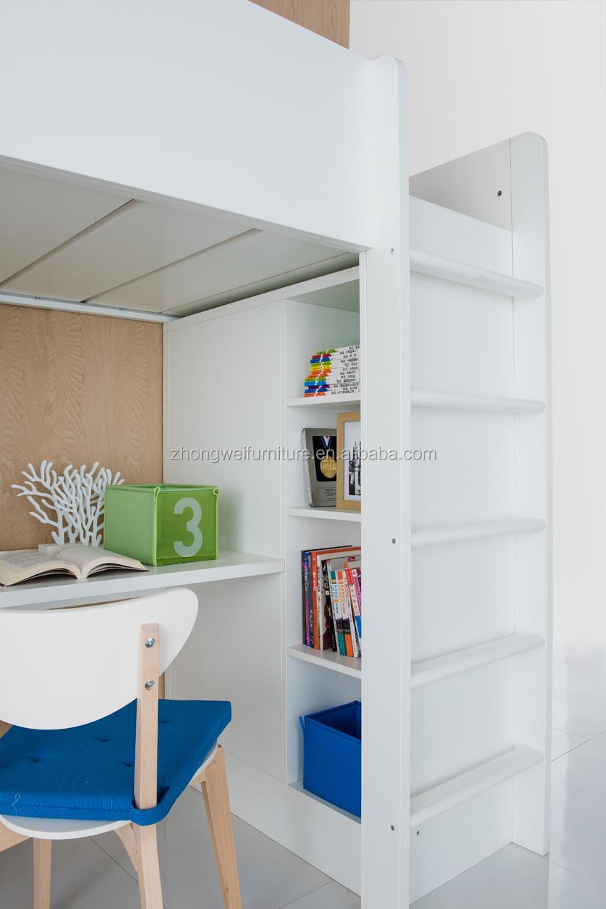 nios cama litera con escritorio y armario para los muebles del dormitorio