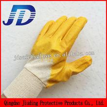 JD cotton liner knit wrist nitrile coated work gloves for export