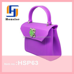 2015 Promotion famous silicone tote bag for ladies