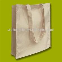 PLAIN ECO NATURAL COTTON SHOPPING SHOULDER TOTE BAGS WZ7067
