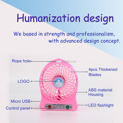 1 year warranty 5 colors rechargeable mulfunctional portabl 5 volt fan with strong wind