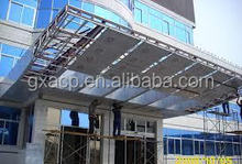 factory supply outdoor 4mm 5mm PVDF ACP aluminum plastic composite panel exterior decorative wall panels