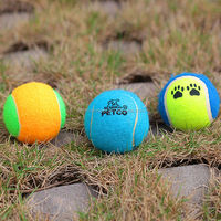 2014 newest squeaky bouncing tennis ball chew dog toy