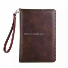 Multicolored genuine Pu leather book style folding stand cover for iPad table case for iPad2 3 4 5 6