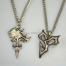 FS Final Fantasy Squall's Lion Heart Pendant & Tidus Pendant Necklace Set