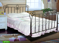 Modern brown home furniture iron metal bed