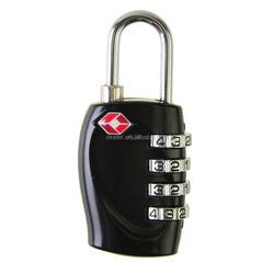 2016 New arrive Black 4-digital Combination lock Small Travel Luggage secure Padlock