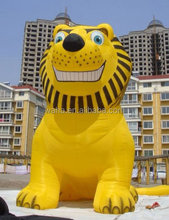 8m high giant inflatable lion for advertising YELLOW color lion