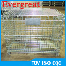 Customized Industrial warehouse storage container/industrial steel wire cage manufacturer