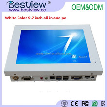 OEM/ODM White and Black color Fanless 9.7 inch Industrial Grade Touch Screen All In one Computer