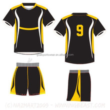 Wholesale dropship team custom made soccer uniforms kits with numbers