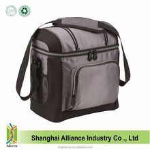 Gray Color Portable Travel Soft Tote Cooler Bag With Hard Liner