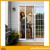 DIY aluminium retractable screen door