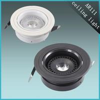 China Factory sale aluminum round led ceiling lights ar111