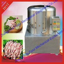 stainless steel automatic chicken feet yellow skin peeling machine / chicken feet peeler machine