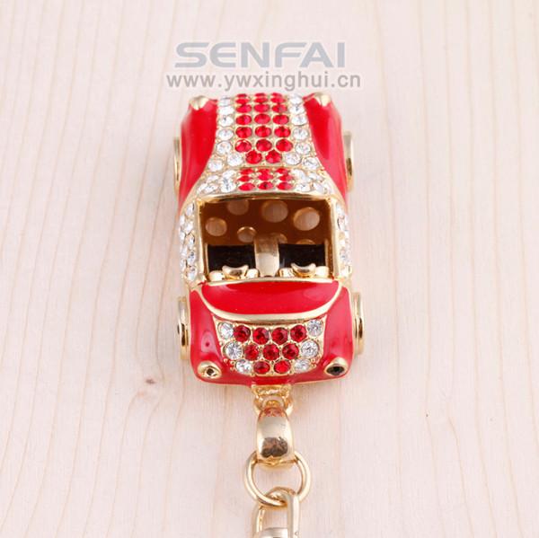 Новинка 3D авто брелок роскошные металл горный хрусталь брелок творческий брелок для ключей от машины кольцо, Инновационные Keychian для ключей