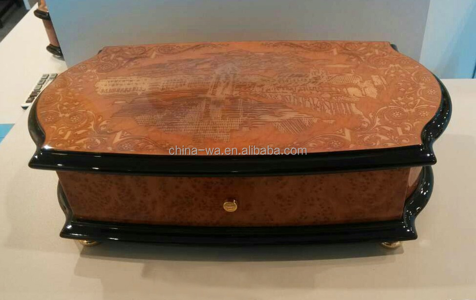 best quality Piano lacquer wood box for jewelry