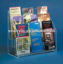 Tier acrylic brochure holder display/acrylic office suplies with high quality from China low price