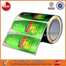 Waterproof adhesive labels for plastic bottles