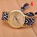GINEBRA Marca TOP mujeres coloridas ajustables de lujo reloj estilo nacional damas funcionales reloj cinta trenzada