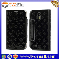 Luxury Monogram Glossy Leather Flip Cell Phone Case for Samsung S4