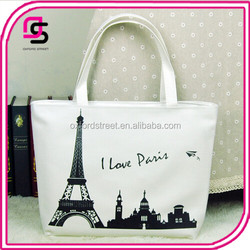 Wholesales Pray For Paris New Tower Canvas Tote Shoulder Bag Handbag