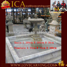 Antigua fuente de piedra, antiguo Estatua Escultura,, mármol Talla IWF0138 escultura