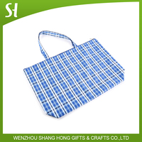 high quality large polyester pp tote bags with zipper