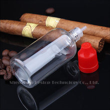 Fashion e cigarette e liquid Bottle with transparent cap and thin tops for electronic cig oils