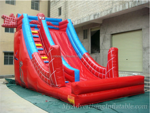 High quality commercial inflatable silde ,spiderman inflatable slide for sale