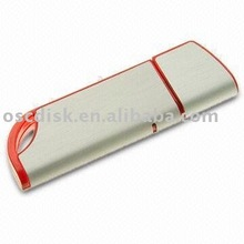 Slim plastic USB Flash Drive with 64MB to 32GB Memory Capacity, Customized Colors/Shapes Welcomed/Lifetime warranty