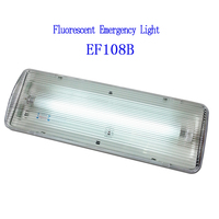 Fluorescent Tube Fire-Retardant ABS and Red LED Indicates Charging Battery Operated Led Emergency Light