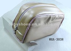 pink sheep leather make-up bag