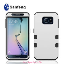 For Samsung Galaxy S6 Edge Hight Quality Products China Manufacturer Cell Phone Case For Samsung Silicone+PC For S6 Edge Cases