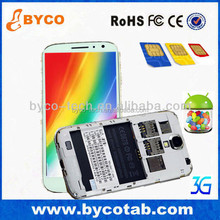 5.0 inch Dual Core gps wifi 3G FM 2 cameras three sim cards htm feiteng h9503