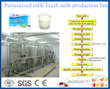 Dairy production line for flavored milk