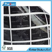 Custom high quality eye shadow cake label