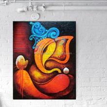 oil painting of ganesha