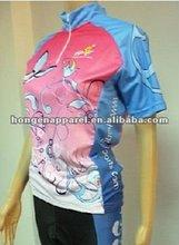 2012 Popular Sublimation Female Cycling shirts