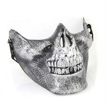 Mejor venta de halloween media cara de la mascarada máscaras del partido para hombre