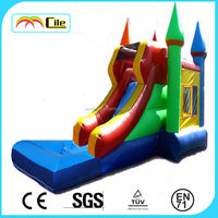 CILE 2014 Hot Sale Inflatable Combo Bouncy Castle with Slide for Amusement