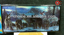 ZB-113 Popular Hot Clay Animal Pictures 3d Wolf Painting