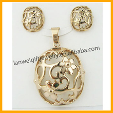 Best Selling Europe and America Luxury Delicate Rose Gold plated jewelry sets