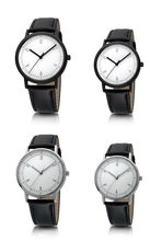 Custom and wholesale simple design couple christmas promotion gift wristwatch