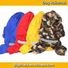 NEW ARRIVAL wholesale reflective waterproof dog clothes, fashion large dog raincoat,dog clothes patterns DC-018