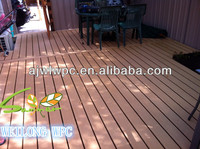 Wood plastic composite brown wpc decking patios