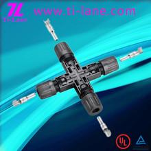 T4-Cross Connector x type crimp connectors mc4 compatible connector cheap 3d paper solar eclipse glasses broken solar cells